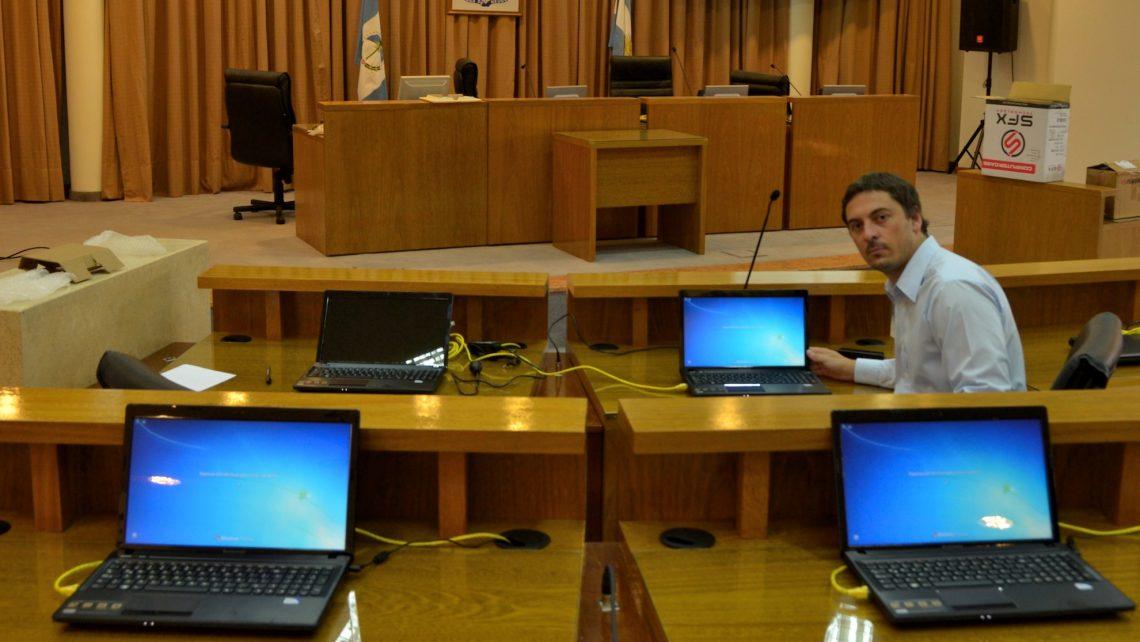 El recinto del Concejo Deliberante contará con moderna tecnología para facilitar la labor legislativa de los concejales
